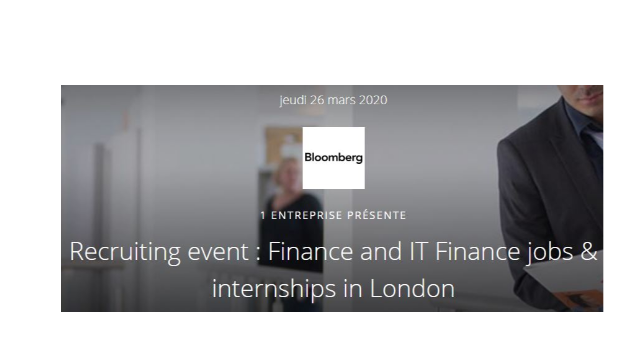 Recruiting Event - Finance and IT Finance jobs & internships in London